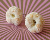 Sugared Donut Twists Stud Earrings