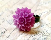 Violet Chrysanthemum and Copper Ring