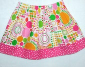 Clearance Sale - Girls skirt  Circles and Dots Twirl Skirts .. Baby .. Toddler .. Girls ..3T Pixiilane