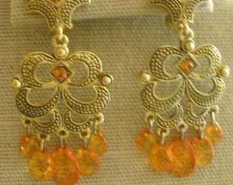 Vintage Bohemian Style Clip On Earrings; Boho Jewelry; Boho earrings