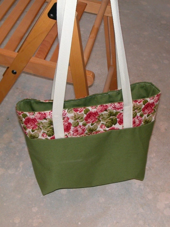 Custom work-n-play medium bag- contrast tote A4 size with A5 pouch- made to order
