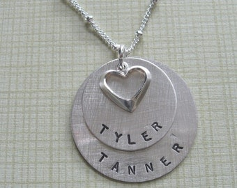 2 names/discs Mother's necklace