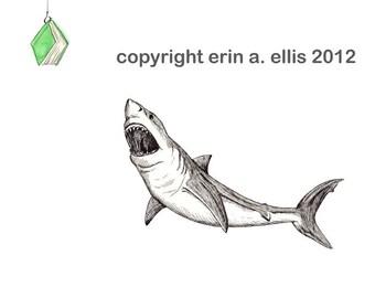 Great White Shark 5x7 Print