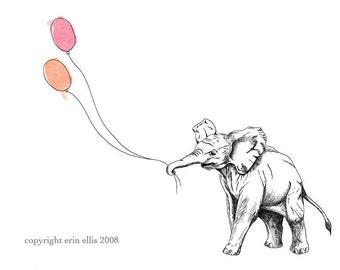 Elephant 8x10 Print