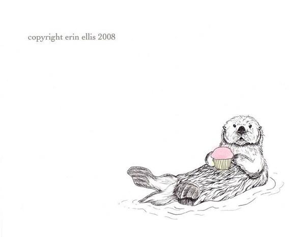 Otter 5x7 Print
