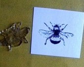 realistic bumble bee clear polymer rubber stamp
