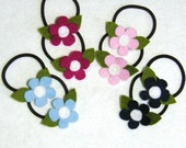 CUSTOM Tiny Flowers Pigtail Pair - You Pick The Colors
