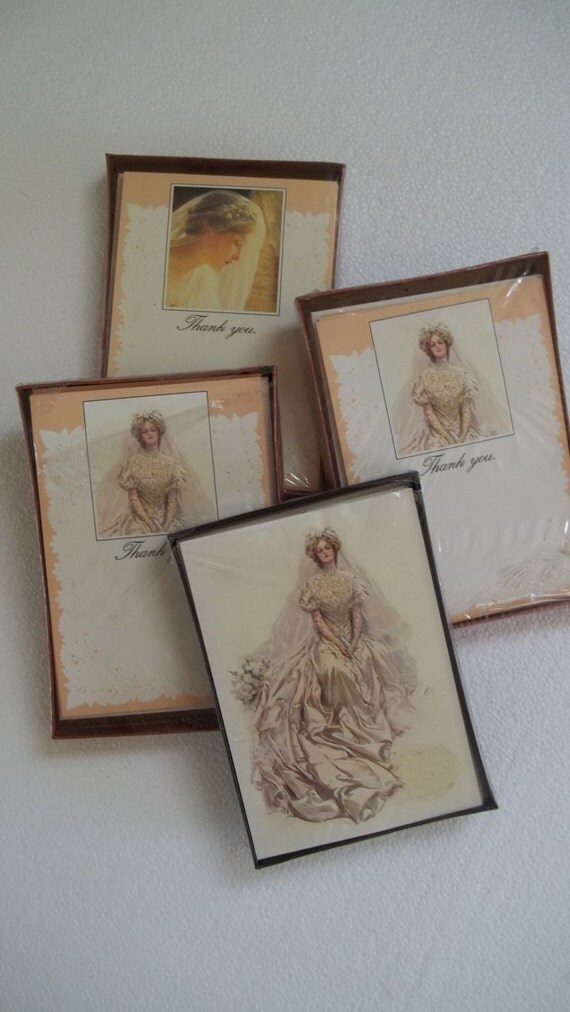 Victorian Greetings Wedding Card Lot Bridal Shower & Thank You Cards