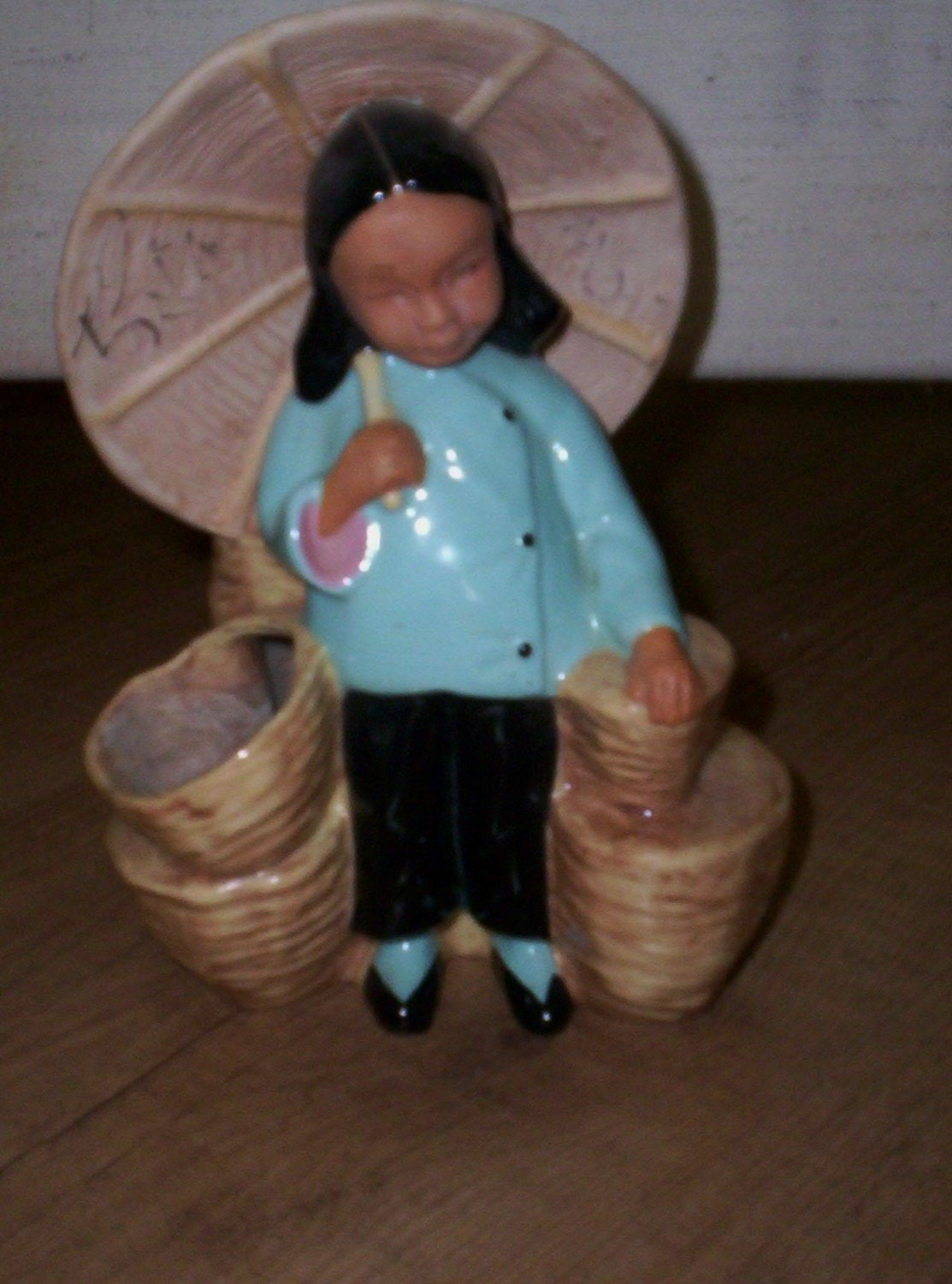 vintage mccarty brothers california pottery asian girl planter