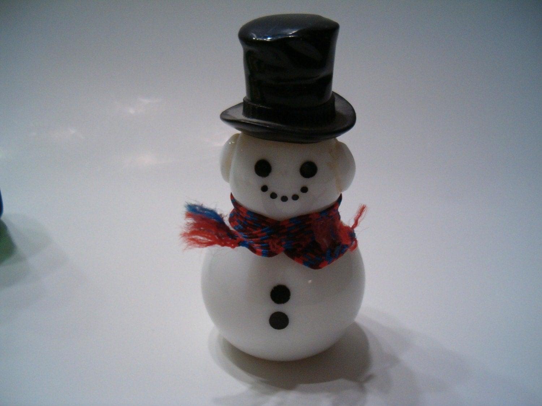 Vintage Avon Dapper Snowman Perfume Bottle by TreasureCache