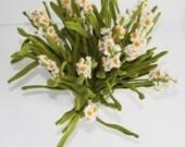 Crochet flowers - Home Deco - Table Set - Bouquet - Crochet Narcissus