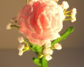 Crochet flowers - Home Deco - Table Set - Bouquet - Crochet Carnation