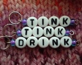 Tink, Tink, Drink Stitch Markers - handmade stitchmarkers available in lots of colors and sizes