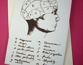 Inside my head. Phrenology card.