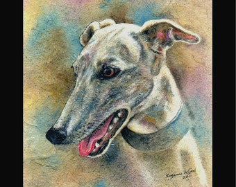 GREYHOUND DOG PRINT - Limited Edition Large, signed by Suzanne Le Good