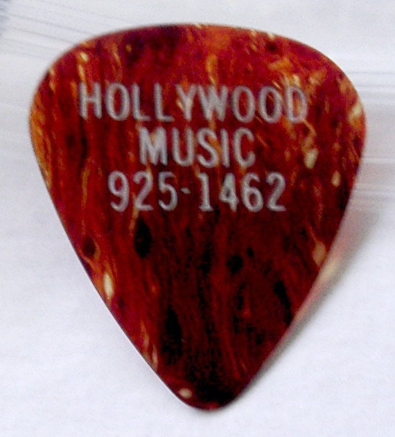 RESERVED FOR MARIA Tortoise Guitar Pick Music Store Advertising