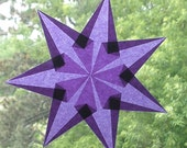 7 Pointed Purple Window Star