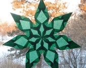 7 Pointed Green Window Star Sun Catcher
