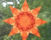 Vivid Orange Window Star Suncatcher
