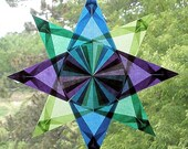 4 Color Waldorf Window Star in Purple, Blue, Emerald Green, and Lime Green
