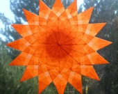 Orange Window Star Sun Catcher