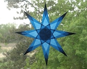 Cobalt Blue Window Star with 8 Sharp Points