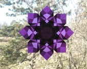 Purple 8 Pointed Paper Window Star Sun Catcher