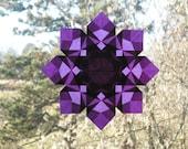 Purple 8 Pointed Paper Window Star Sun Catcher