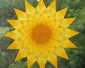 Yellow Mandala Window Star Sun Catcher