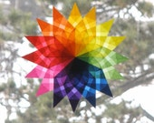 Rainbow Mandala Window Star Sun Catcher
