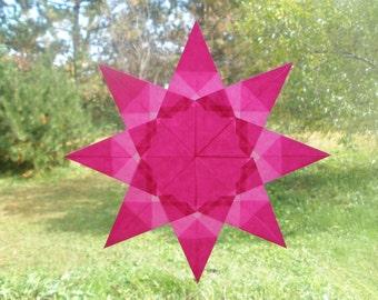 Pink Diamond Point Window Star Sun Catcher