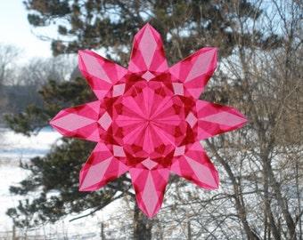 Pink Waldorf-Inspired Window Star Suncatcher