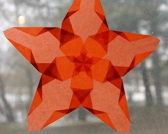 Orange Window Star with Five Points