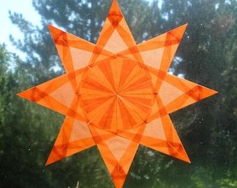 Orange Window Star Sun Catcher