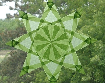 Origami Window Star made with Pale Green Paper