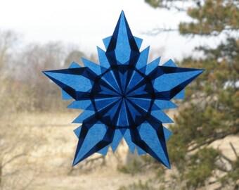 Navy Blue 5 Point Window Star Suncatcher