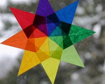 Waldorf Rainbow Window Star - Montessori Classroom Decoration - Art Education Color Wheel