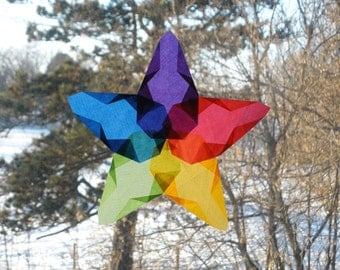 Eco-friendly Rainbow Window Star Suncatcher