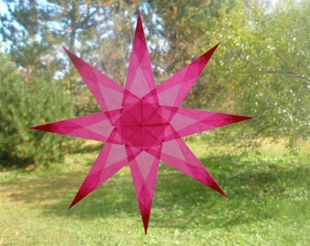 Pink Window Star with 8 Sharp Points