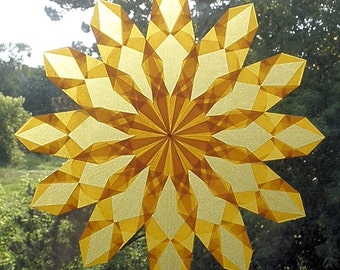 Gold Window Star with 12 Points