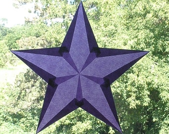 Purple  5-Pointed Waldorf Inspired Window Star Suncatcher