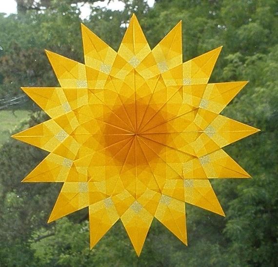 Yellow Mandala Window Star Sun Catcher