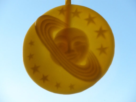 Sun and Stars Beeswax Impression - All Natural Hand-Crafted Year Ornament - uuteam Wastenot sampler village