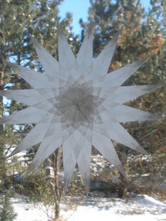 White 16 Sharp-Pointed Waldor- Inspired Suncatcher