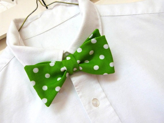 Green Mens Bow Tie St. Patrick's Day