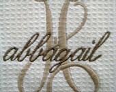 HANDTOWEL Script Name and Initial