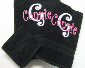 3 Piece Curlz Towel Set