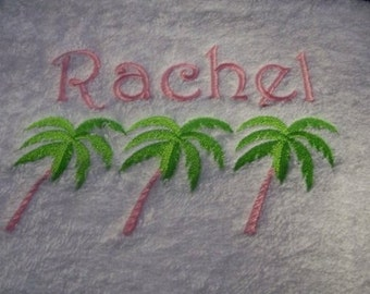 BATH TOWEL The Palms Personalized FREE