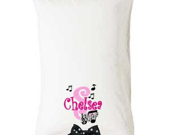 PILLOWCASE Music Notes Personalized FREE