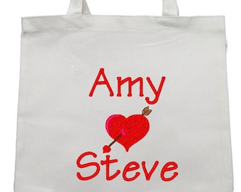 CANVAS TOTE Cupid's Arrow  Personalized FREE